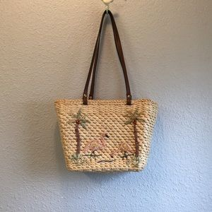 St. John's Bay straw woven with design purse